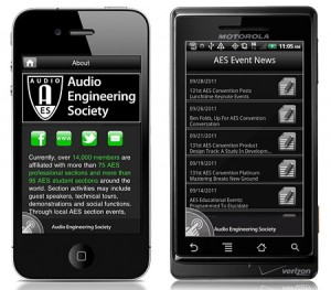 Audio Engineering Society Show App