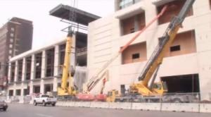 Cedar Rapids Convention Center construction