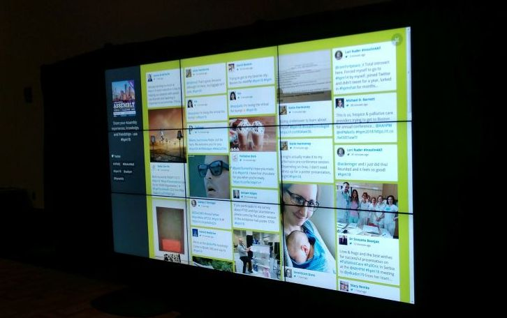 Video Wall for Twitter, Facebook, Linkedin - Social media